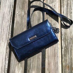 Midnight Blue Metallic Off The Shoulder Bag Wallet